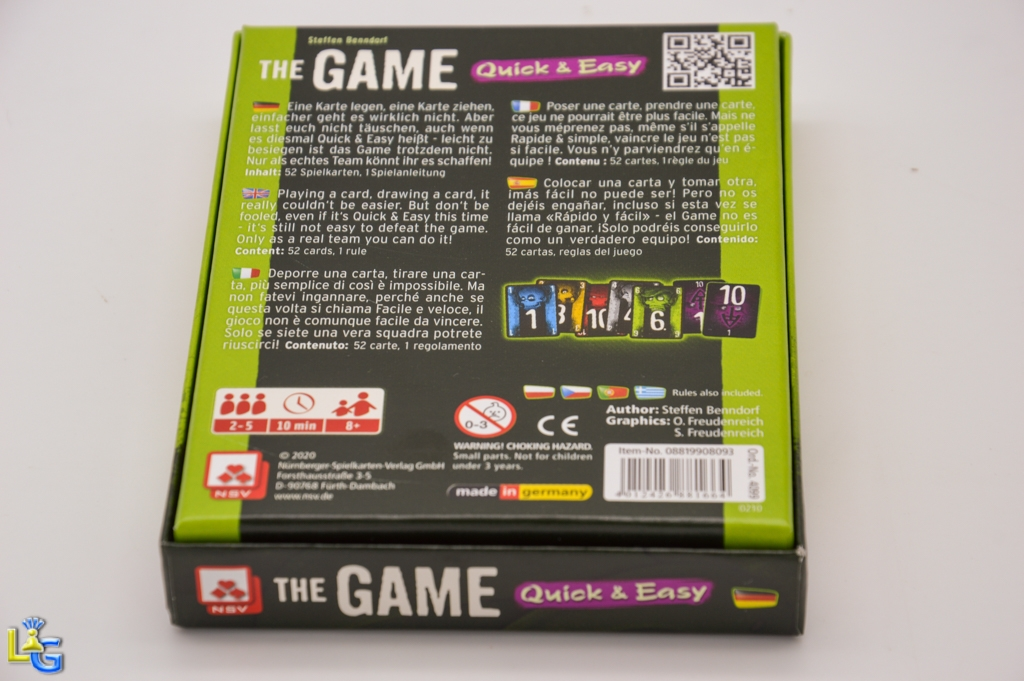 The Game: Quick & Easy - 5